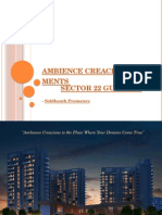 Ambience Creacions Apartments Sector 22 Gurgaon