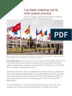 Turkey Urged at Nato Meeting Not to Abandon Kurdish Peace Process