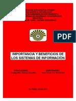 Informe 1 Importancia y Beneficios de Los Sistemas de Información