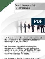 Job Descriptions and Job Specifications 12