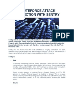 Bruteforce Attack Protection With Sentry