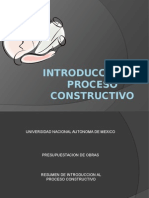 Introducción Al Proceso Constructivo