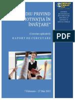 Raport Studiu Motivatia in Invatare v1