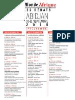 Le Monde Afrique - Les débats - 2015