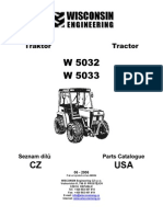 W5000 tractor catalog