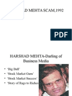 Harshad Mehta Scam,1992.Ppt11