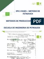 IPR-2 fases- Metodo de Fetkovich