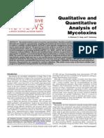 Analysis of Mycotoxins