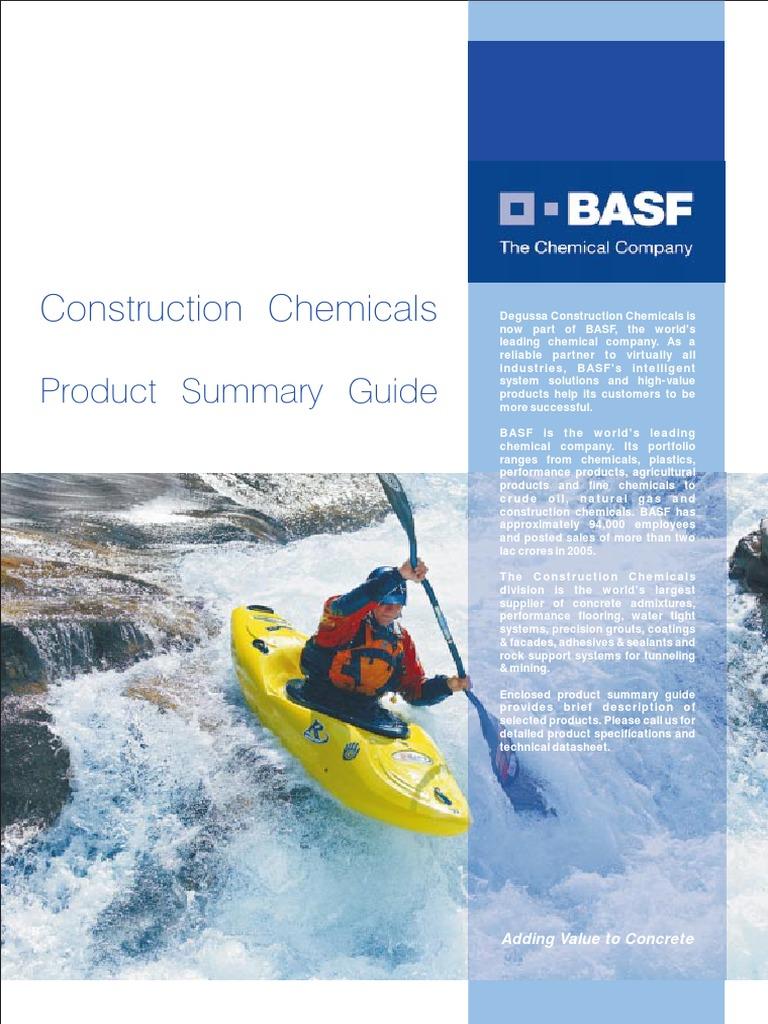 Products summary Guide pdf | Epoxy | Concrete