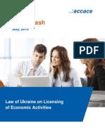 Law of Ukraine on Licensing of Economic Activities | News Flash