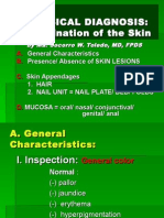 Examination of the Skin