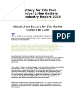 Li-ion Battery for EVs Fast News