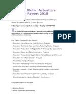 PreviewGlobal Actuators Industry Report 2015