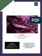 Actividad Rec Experiencia 2014-2015