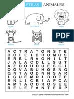Sopa Letras Animales