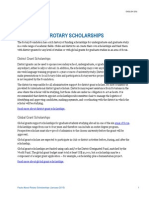 Facts About Rotary Scholarships