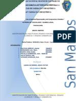 Identificación de Insecticidas Órgano Fosforados, Órgano Clorados y Órgano Carbámicos