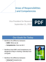 Using KARs and Competencies - VPR Units - September 21 2012
