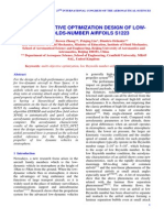 Multi-objective Optimization Design of Lowreynolds-number Airfoils s1223