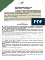Minuta Do REGIMENTO Geral GRADUAÇÃO_segunda Versão_6fev_2015