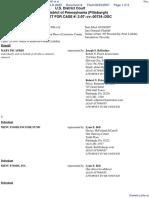 DICAPRIO v. MENU FOODS INCOME FUND et al - Document No. 8