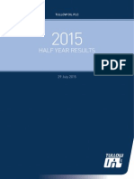 Tullow Oil Plc 2015 Half Year Results