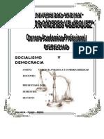 EL SOCIALISMO Y LA SOCIAL DEMOCRACIA