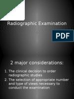 Radiographic Examination