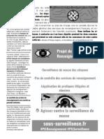 Contre la Loi Renseignement - Brochure C.L.A.P33