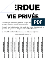 Loi Renseignement - Affiche - Perdue vie privée !
