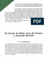 El Circulo de Bellas Artes de Caracas y Armando Reveron