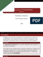 Unidad II Distribuciones de Probabilidad