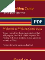 2015 writing camp