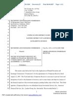 Securities and Exchange Commission v. Secure Investement Services, Inc., et al - Document No. 27