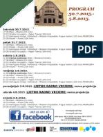 Program Kina Urania 30.7.-5.8.2015
