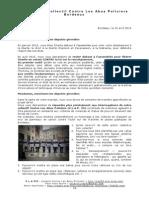 Loi Renseignement - Lettre Députés Girondins