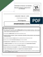 Prova UFPB 2012 - Engenheiro Civil