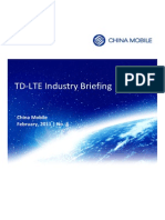 TD-LTE Industry Briefing - February 2011