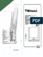 Mitsui User Manual MTV 1422