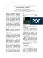 JP_Methodology for Calculation of Scattering Parameters in a Transmission-Line Transducer