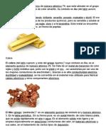 El Oro Es Un Elemento Químico de Número Atómico 79