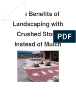 The Benefits of Landscaping with Crushed Stone Instead of Mulch
