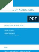 Liming of Acidic Soil