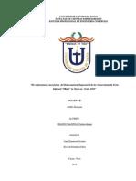 Trabajo de Investigador Conformismo en la ciudad de tacna para el año 2013