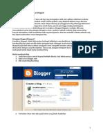 Cara Membuat Blog Menggunakan Blogspot