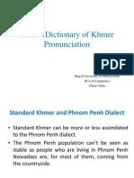 A New Dictionary of Khmer Pronunciation(Final)