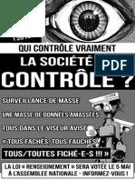 Contre la Loi Renseignement - Affiche 2