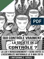 Contre la Loi Renseignement - Affiche 6