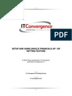 Setup and Use the AP AR Netting & Intercompany Netting Feature