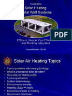 AIA SolarHeating Wall Sysyems